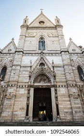 Naples, Italy - April 18, 2018. The Naples Cathedral or Cathedral di San Gennaro.