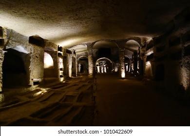 Naples, Italy - Catacombs of San Gennaro