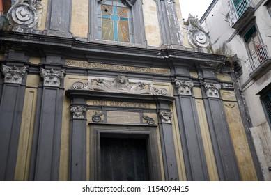 Naples, Italy - July 24, 2018 : 'Sant Aspreno ai Crociferi' church