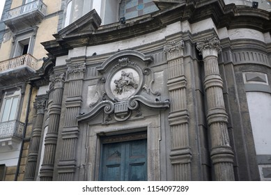 Naples, Italy - July 24, 2018 : 'Santa Maria Succurre Miseris ai Vergini' church
