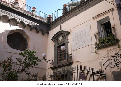 Naples, Italy - July 24, 2018 : Santi Filippo and Giacomo church (chiesa dei Santi Filippo e Giacomo)