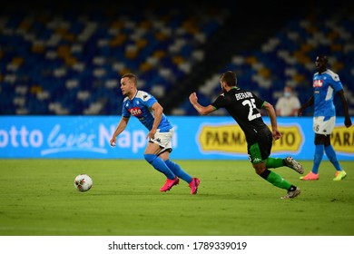 Naples Italy, July 25h, 2020: football Serie A match between Napoli vs Sassuolo at San Paolo Stadium.In the pic: Stanislav Lobotka of NAPOLI