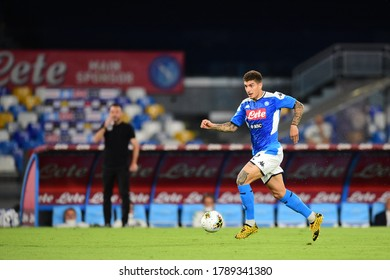 Naples Italy, July 25h, 2020: football Serie A match between Napoli vs Sassuolo at San Paolo Stadium.In the pic: Giovanni Di Lorenzo of NAPOLI