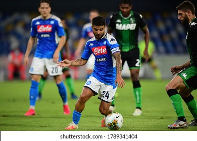 Naples Italy, July 25h, 2020: football Serie A match between Napoli vs Sassuolo at San Paolo Stadium.In the pic: Lorenzo Insigne of NAPOLI