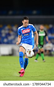 Naples Italy, July 25h, 2020: football Serie A match between Napoli vs Sassuolo at San Paolo Stadium.In the pic: Piotr Zielinski of NAPOLI