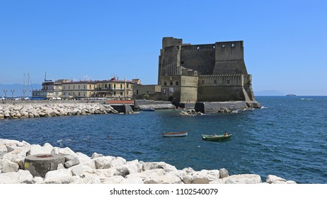 NAPLES, ITALY - JUNE 22, 2014: Castel dell Ovo Fortification in Naples, Italy.