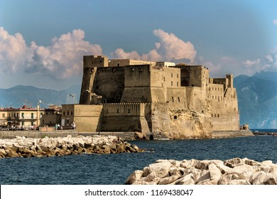 Naples, Italy view of castel dell''ovo
