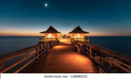 Naples Pier after sunset