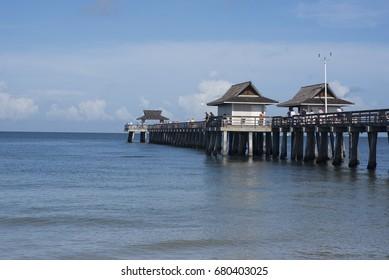 Naples pier: Daytime