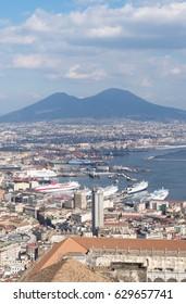 Naples skyline from Castel Sant'Elmo, Italy