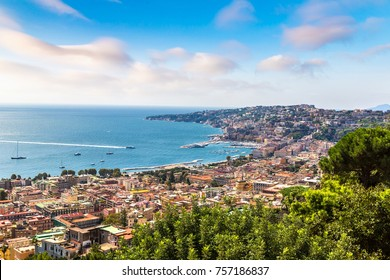 Naples in a summer day in Italy