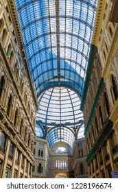 Naples,Campania/Italy- November 10, 2018: Galleria Umberto. Interior of ancient gallery . Shopping and tourism in Europe