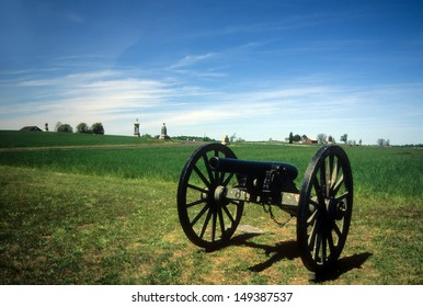 Napoleon, 12 lb cannon, near Peach Orchard, Gettysburg National Historical Battlefield,Pennsylvania,