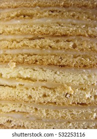 Napoleon cake for background or texture, vertical