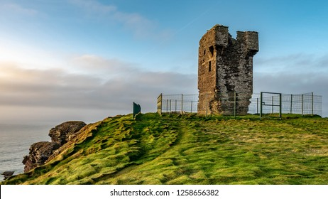 Napoleonic Watchtower at Cliffs of Moher in Ireland