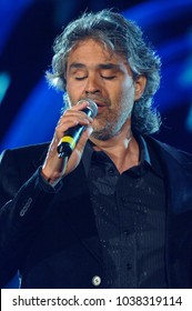 "Napoli Italy 06/01/2006 :  Andrea Bocelli in concert during the musical event ""Festivalbar 2006""."