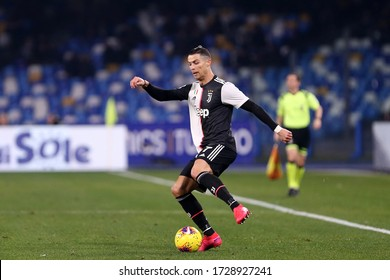 Napoli. Italy. 26th January 2020. Italian Serie A. Ssc Napoli vs Juventus Fc.  Cristiano Ronaldo of Juventus FC in action
