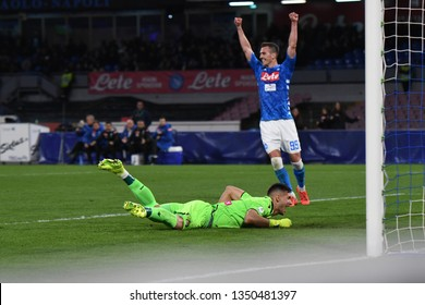 Napoli Italy, Marz 17th, 2019: football Serie A match between Napoli vs Udinese at San Paolo Stadium.
