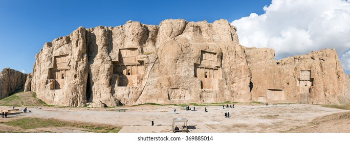 Naqsh-e Rustam, an ancient necropolis in Pars Province, Iran. Panorama view