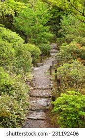 Nara, Japan (Kansai region) - UNESCO World Heritage Site. Yoshikien Japanese Garden.