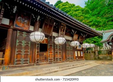 NARA, JAPAN - OCTOBER 16: Traveller in front of Todaiji temple in Nara, Japan on 16 October 2016.