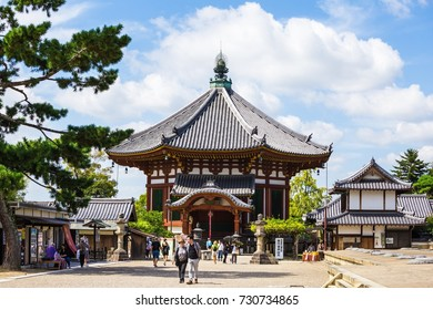 Nara, Japan - September 21, 2017:Kofukuji temple in Nara Japan. It was established at 710.