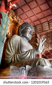 NARA, JAPAN - SEPTEMBER 28: Vairocana Buddha 28 September, 2018 at Nara, Japan. The Great Buddha of Nara is one of the mainsight of Japan.