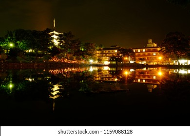 Nara Lantern Festival in Nara Park, Japan