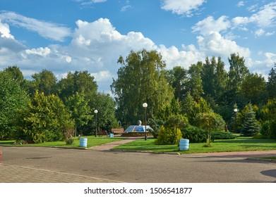 Narach town, resort town in Myadzel Raion, Minsk Voblast, Belarus, by the Lake Narach.