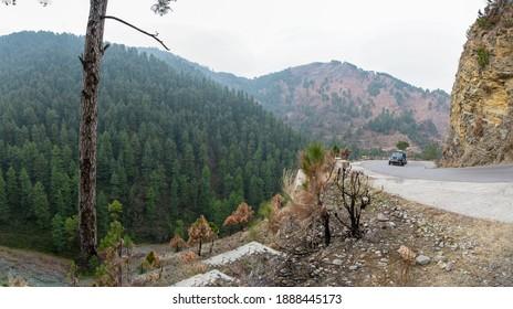 Naran Valley, Pakistan - December 27, 2020: Kunhar River Naran Valley Abbottabad