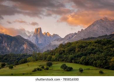 Naranjo de Bulnes one of the most iconic sites of the Picos da Europa, Aturias Spain