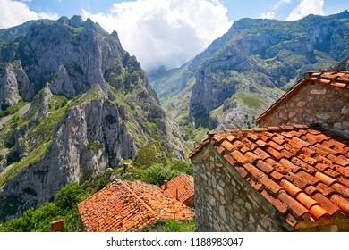 Naranjo de Bulnes peak Urriellu in Picos de Europa of Asturias Spain