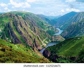 Narcea valley and La Barca reservoir, Tineo municipality, Asturias, Spain