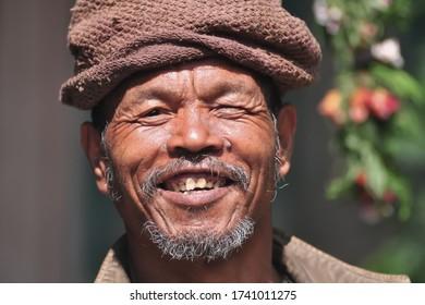 NARCHYANG, MYAGDI – SEPTEMBER 29, 2018 :  Portraiture of Narchyang people.