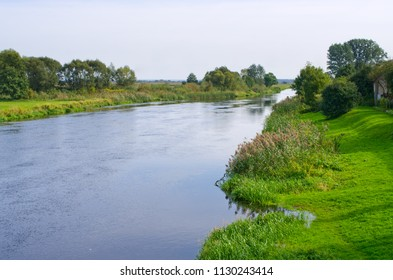 Narew river on the east of Poland