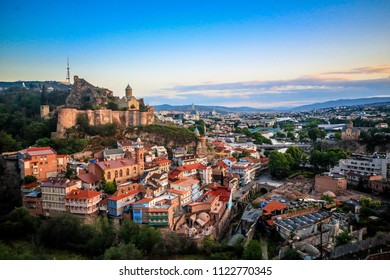 Narikala is an ancient fortress overlooking an old town of Tbilisi