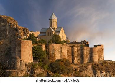 Narikala Castle in Tbilisi, Georgia.