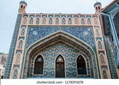 Narikala, Jumah Mosque, Exterior of public Sulphur bath in Tbilisi Georgia a fine example of islamic architectural style.