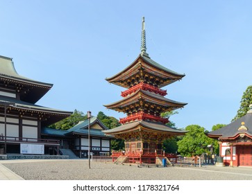 Narita, Chiba, JAPAN - July, 2018: Narita-san Shinshoji temple has history of over 1000 years located in central narita near narita airport.