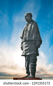 Narmada/Gujarat/India - December 20, 2018, Sri Sardar Vallabhai Patel, Statue of unity, worlds tallest statue.
