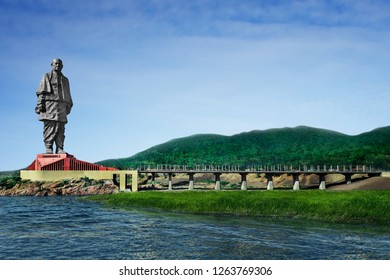 Narmada-Gujarat-India-November 9, 2018.Tourists visiting the world's tallest statue, 'Statue of unity', with a height of 182 metre of Sri Sardar Vallabhai Patel on November 4, 2018,Gujarat-India