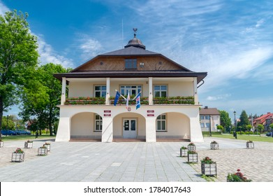 Narol, Poland - June 12, 2020: Narol Town and Commune Office.