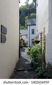 Narrow alley in Clovelly Devon