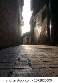 narrow alley of the old city