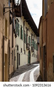 Narrow alley in old village of Cividale del Friuli (Udine), Friuli Venezia Giulia, Italy