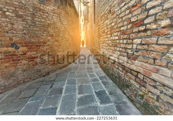 A narrow alley Venice, Italy.