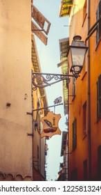 Narrow alleys of Nice, France