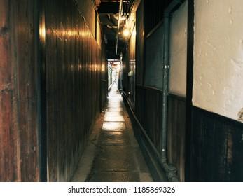 Narrow alleyway in Kyoto