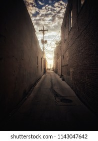 Narrow back alley street