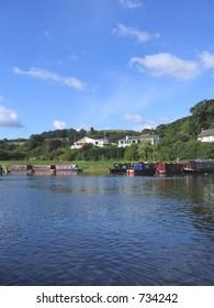 Narrow Boats Moored in Llangollen